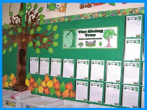 Classroom Website Ideas : The giving tree b board ideas pinterest