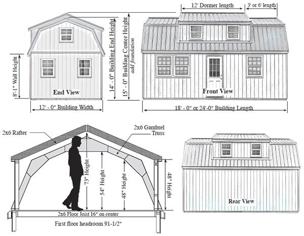 Best Barns 12x24 Lakewood Wood Shed Kit Lakewood 1224 Storage Shed Kits Wood Storage Sheds Shed Construction