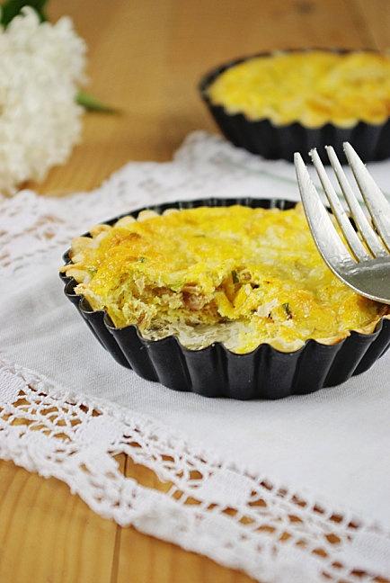 Tartelettes au thon et au curry
