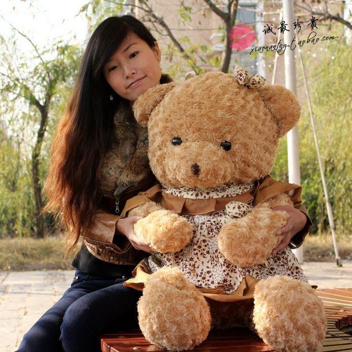 stuffed animal 100cm  teddy bear plush toy skirt bear soft doll p9057