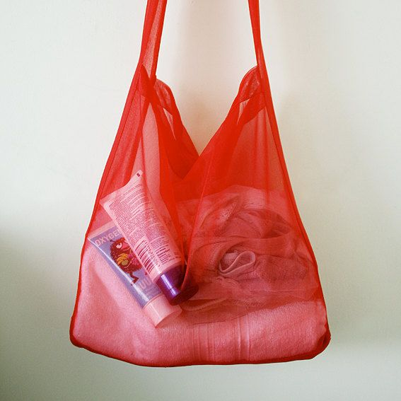 Ruby red tote bag. Unique handmade. by MisBaratijas on Etsy