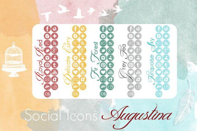 "Copy Paste Love: [Freebie] Social Icon Set ""Augustina"""