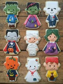 Trick or Treaters Cookies // Cookie Cowgirl