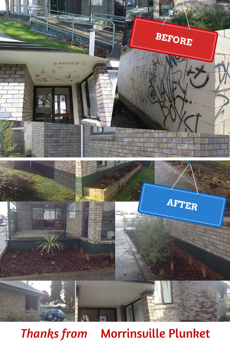 Morrinsville Plunket would like to thank BNZ Closed for Good helpers who helped with water blasting, graffiti removal, painting and cleaning windows and gardening. You are awesome!