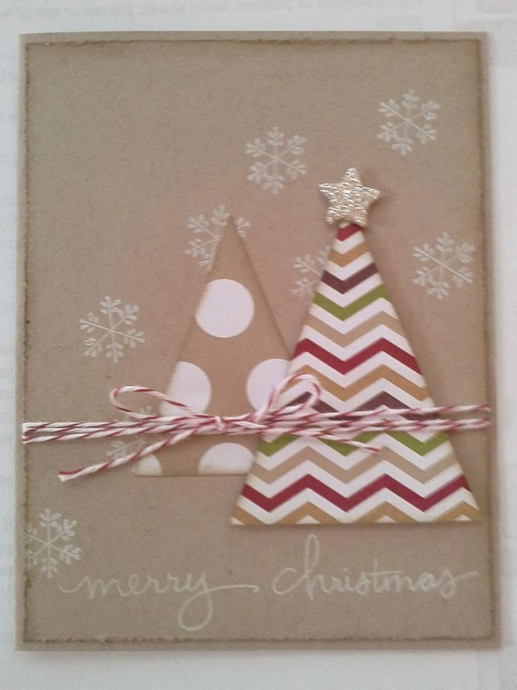 "Endless Wishes Stamp Set and triangle ""Christmas Trees"" made with the Perfect Pennants  Bigz Die from Stampin' Up!"