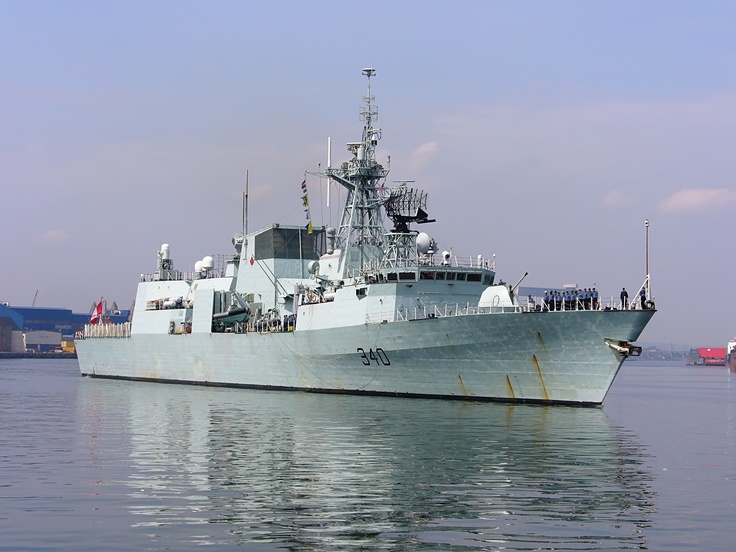 HMCS St. John's (FFH 340) is a Halifax-class frigate that serves in the Royal Canadian Navy. She is named after the city of St. John's, Newfoundland and Labrador, a port city associated with Canadian naval history and heritage, and is the first ship in the Royal Canadian Navy to bear the name.  Photo: Łukasz Golowanow