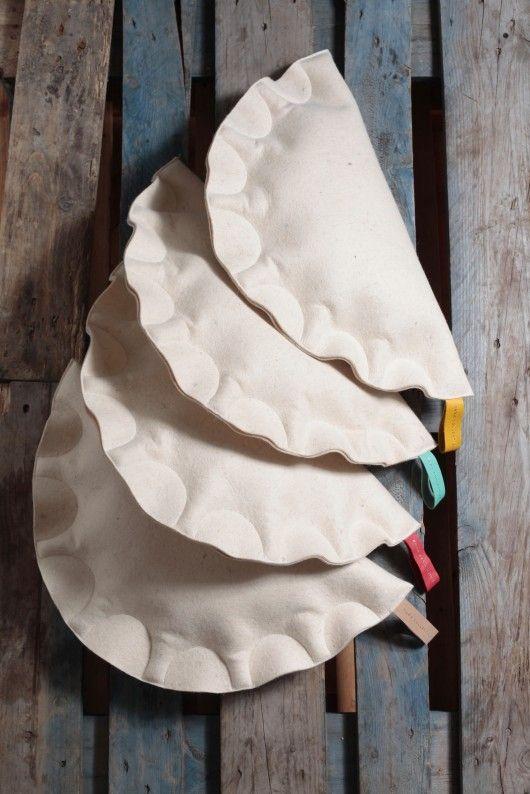 poduszki, poszewki, narzuty-Pierogi poduszkowe Komplet 4 sztuki