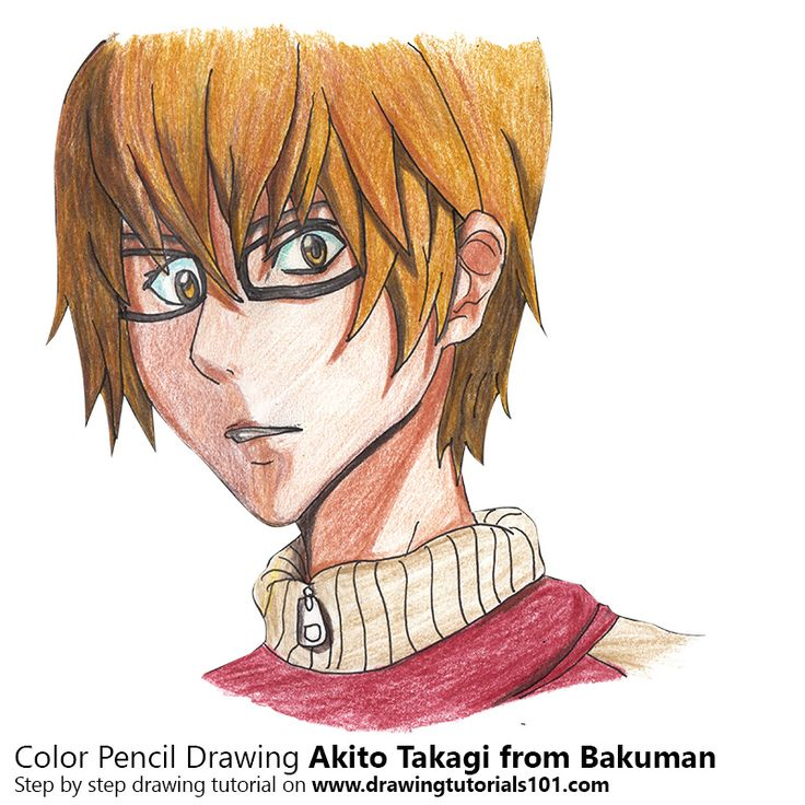 Akito Takagi from Bakuman with Color Pencils