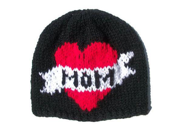 Tattoo hat Hand knitted Baby Child Adult by thekittensmittensuk, £10.99