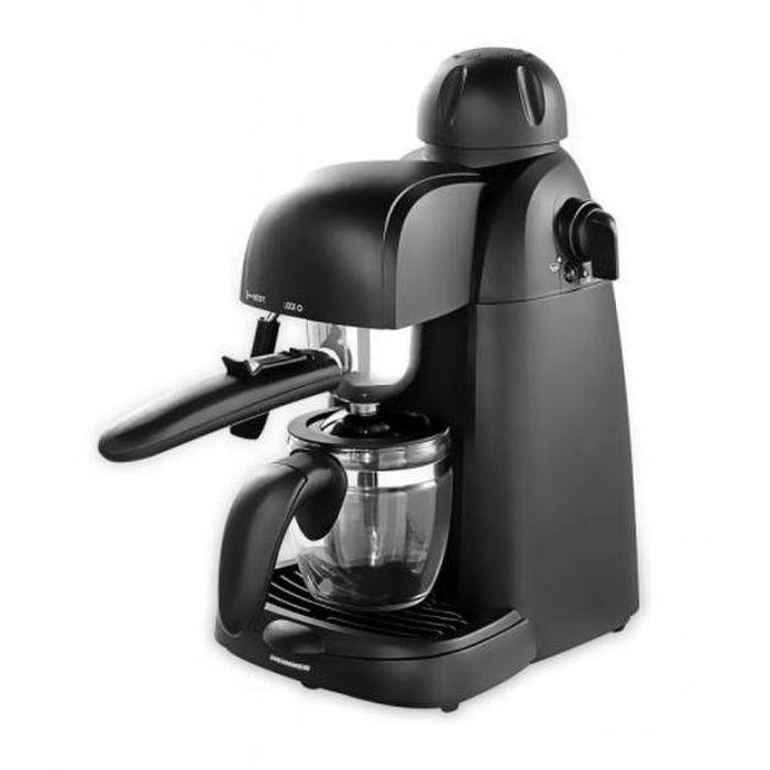 Espressor Heinner Hem-150Bk are un design elegant de mizeaza pe simplitate. In ciuda pretului mic espressorul Heinner Hem-150Bk pe langa cafea poate prepara si cappuccino. Acest espressor are o pompa de presiune de 3,5 bar si o putere de 800W