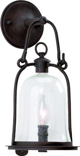 Troy lighting owings mill 1 light outdoor wall lantern in natural bronze