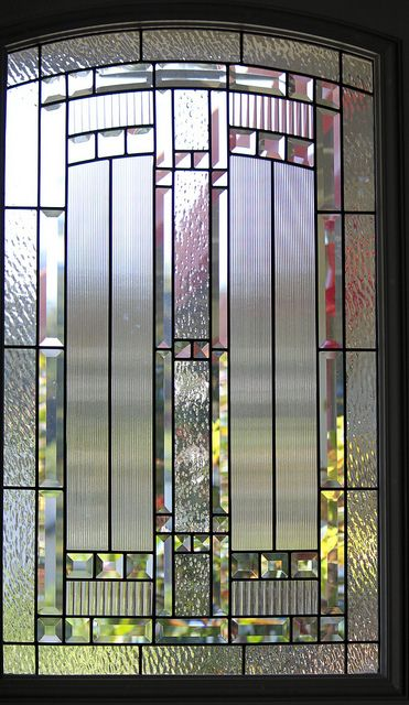 stained glass windows in front door | My front door, glass insert | Flickr - Photo Sharing!