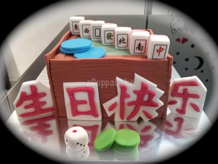 Mahjong Cake