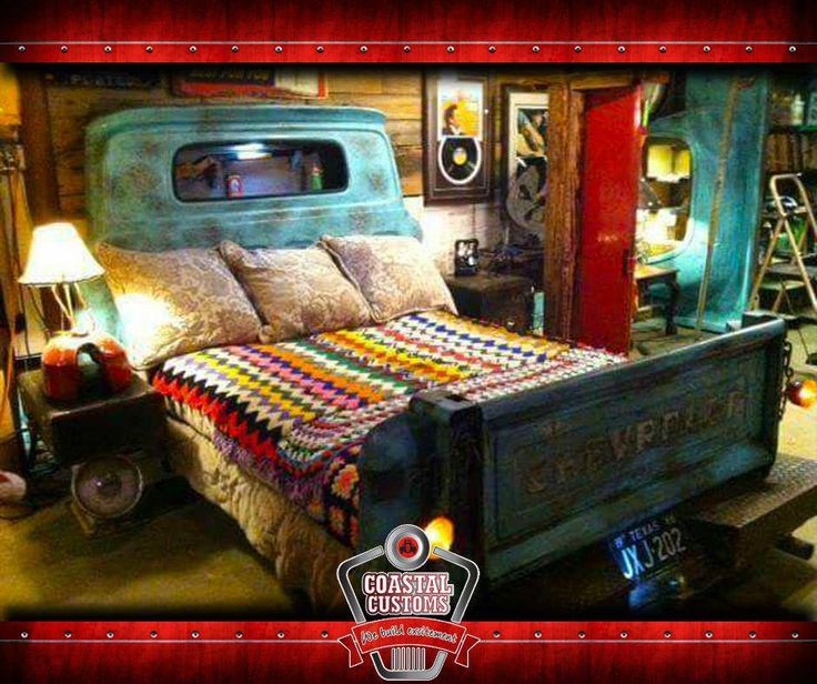 Every mans dream bed, would you love, this gorgeous bed? #CoastalCustoms #custommade
