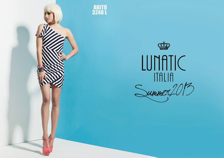 LUNATIC SUMMER COLLECTION 2013 FASHION WOMAN MADE IN ITALY http://www.lunatic.it/   stripes dress righe abito summer2013 estate 2013