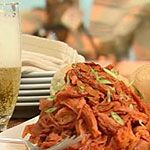 Slow Cooker Pulled Pork - finally one that does not use BBQ sauce as it's main ingredient!!: Avocado Salads, 1 4 Red, Red Onions, Barefoot Contessa, Shredded Head, Pull Pork Recipe, Roasted Sweet Potatoes, Pulled Pork, Potatoes Disk