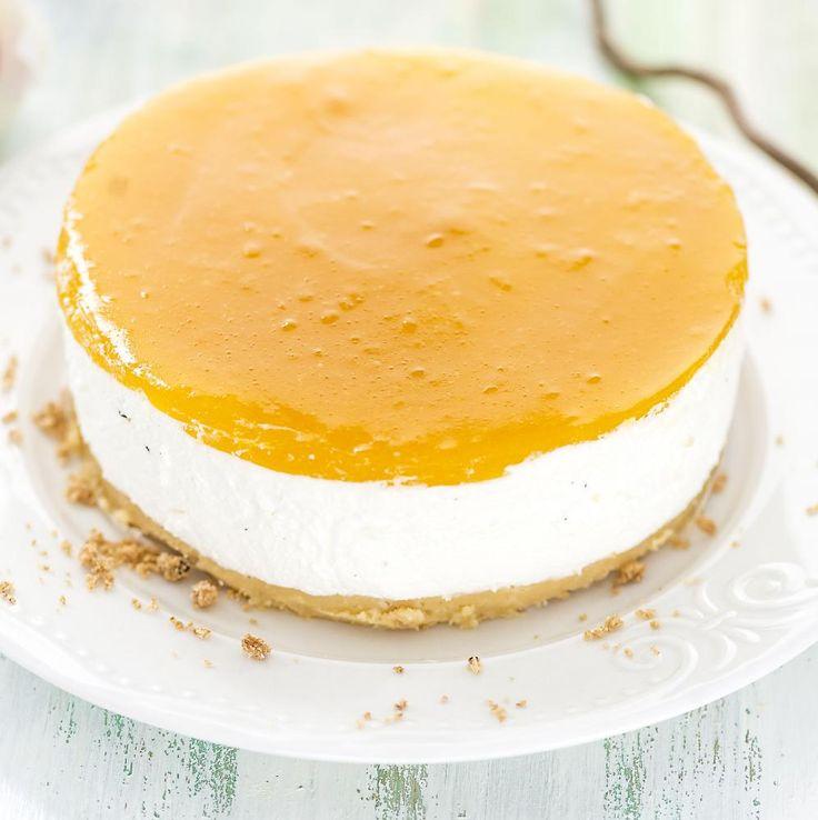 Gluteeniton Mango-tuorejuustokakku. Kuva: Hellapoliisi.