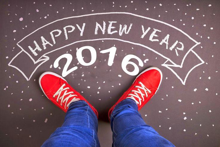 2016 ordinateur de l'année, des chaussures rouges, bonne et heureuse année