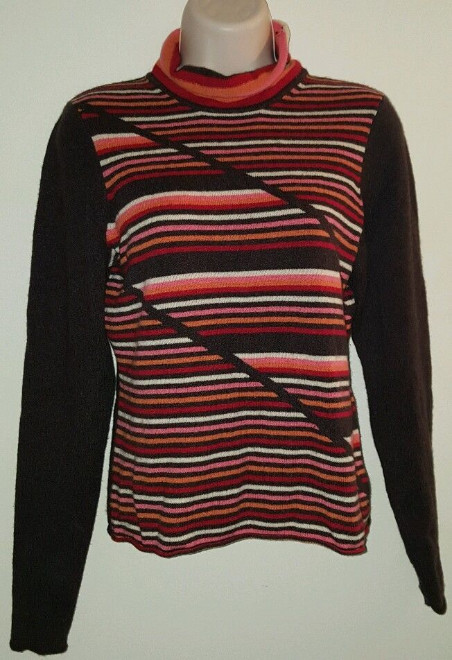 women's cashmere sweater By Artisan size medium brown orange pink red | Clothing, Shoes & Accessories, Women's Clothing, Sweaters | eBay!