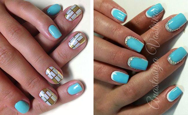 Nails Follow me @janefranciscomk Fonte: pesquisas internet шеллак маникюр цвет тиффани фото