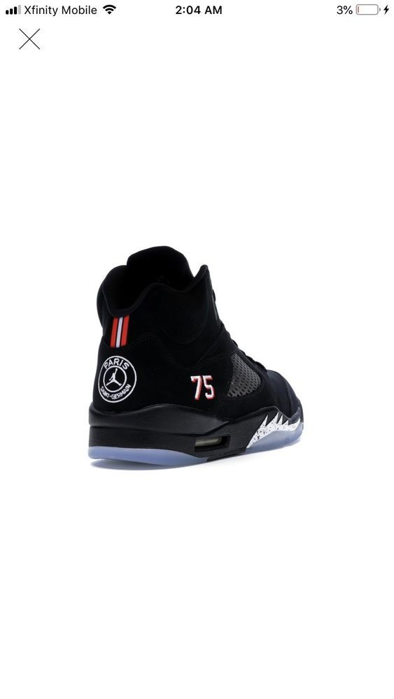 huge selection of d4823 b499a Nike Air Jordan Retro 5 PSG (PARIS SAINT-GERMAIN) Sz 8.5   eBay