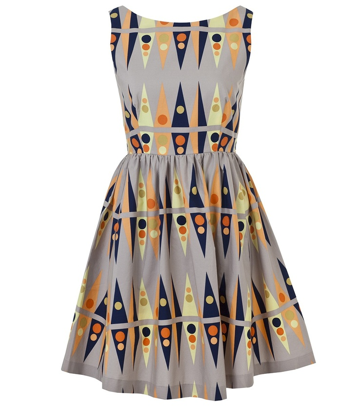 Backgammon Tea Dress