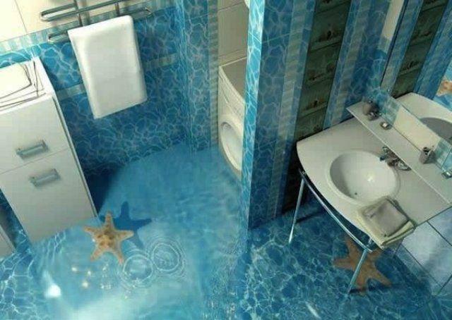 Cu oceanul la picioare: Podele 3D inspirate din mediul acvatic - Poza 6