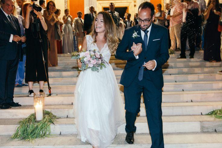 lafete, Syros Cyclades, Agios Nikolaos church, bride and groom, eucalyptus decoration candle