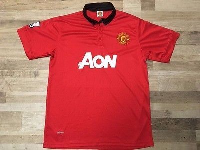 Manchester United Aon Soccer Jersey Size M | eBay