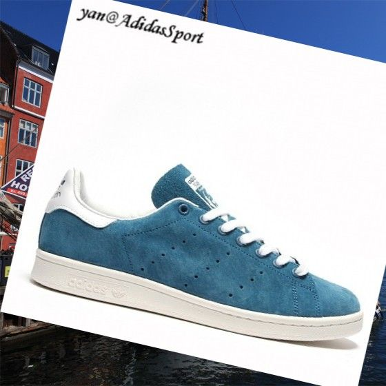 -Adidas Originals Blue White Tribe Of Stan Smith Men Suede Shoes HOT SALE! HOT PRICE!
