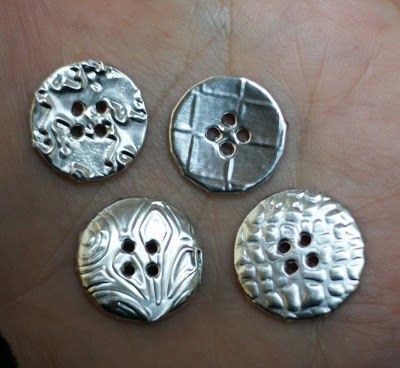 Buttons covered in aluminium foil...one of those head-smackingly obvious ideas you can't believe you never thought of...
