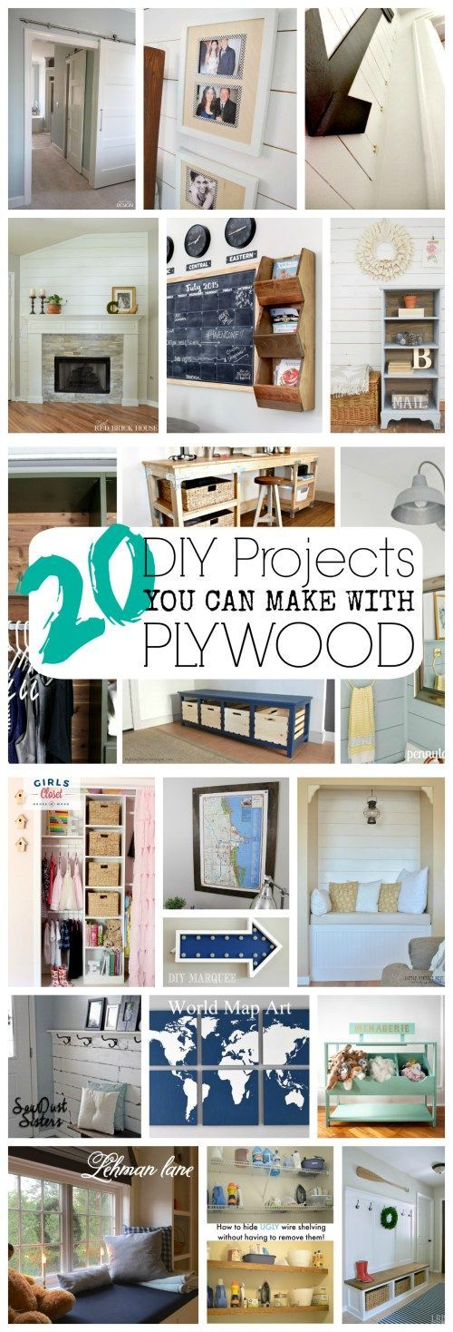 Plywood Projects. 20 easy and inexpensive projects you can make using plywood.| theweatheredfox.com/plywood-projects