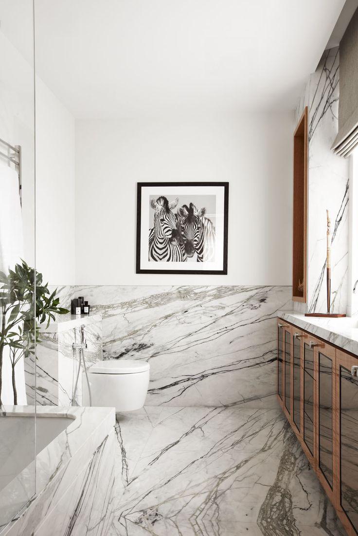 Luxury Penthouse Design In London Infused With Impressive Dark Hues. Modern Marble  BathroomModern BathroomsCarrara ...