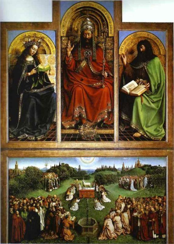 Ghent Altarpiece Lamb Jan van Eyck, God the ...