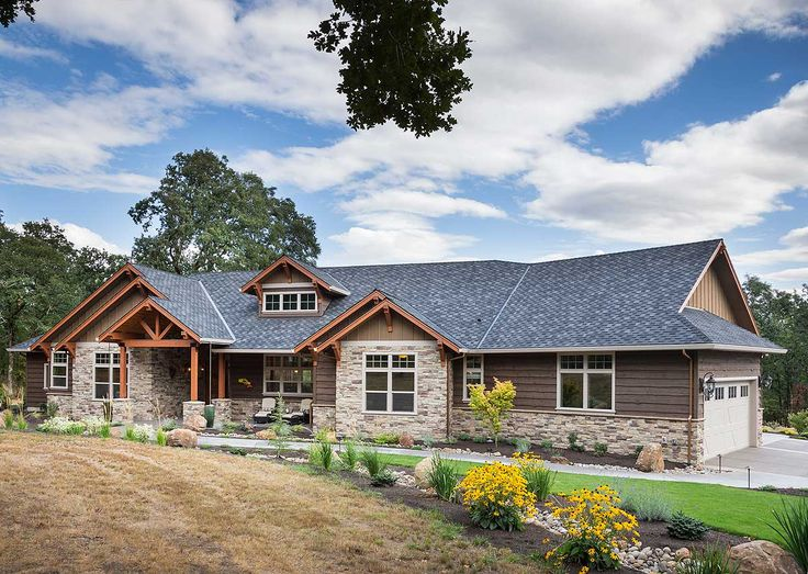 Single Story Craftsman Home Designs on single story contemporary home designs, single story european home plans, single story cabin homes,