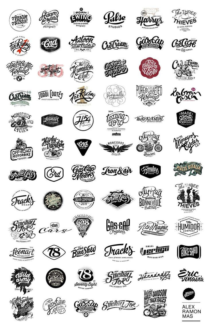 Logos compilation by Alex Ramon Mas Designs on Behance