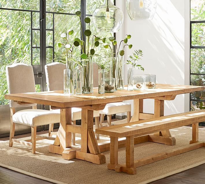 Exceptional Stafford Reclaimed Pine Extending Dining Table