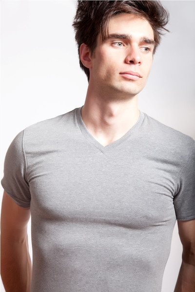 V Neck Grey. Lycra/Organic Cotton mix. Off-Duty essential. Order online: http://www.el-capitano.com/collections/tees/products/v-neck-gray