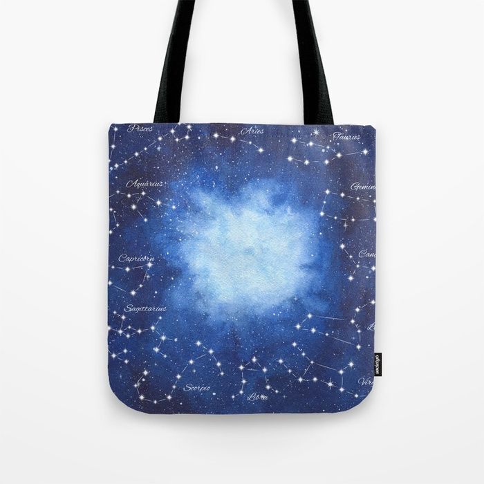 Cosmic Horoscope Tote Bag #space #zodiac #signs #horoscope #universe #galaxy #nebula #stars #constellations #watercolor #painting #night #buy #buyonline #shopping #giftidea #present #cosmic #cosmos #society6 #bags #totebag #buybag #accessories