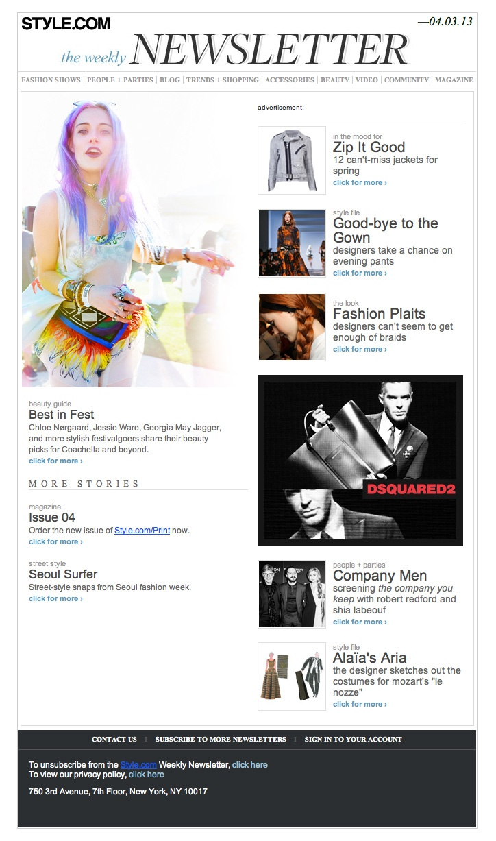 82 Best Images About Fashion Email Newsletters On