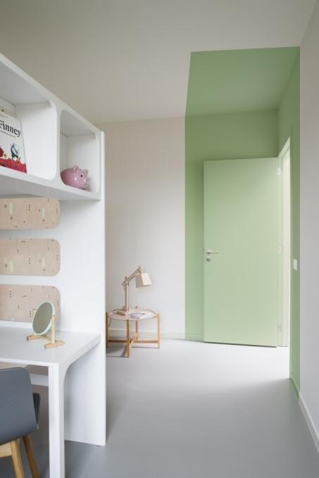 Peignez votre chambre à coucher en blanc et vert