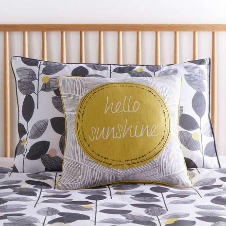 Hello Sunshine Square Cushion | Dunelm