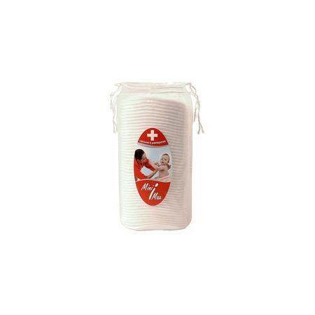 MiniMax Ватные диски универсальные 50 шт., MiniMax  — 149р. ---- Ватные диски для проведения гигиенических процедур очень мягкие, многослойные, гипоаллергенные. Отлично впитывают, помогают убрать излишки крема или присыпки с нежной кожи малыша. По краям ватные диски спрессованы вакуумом.   Дополнительная информация:  Материал: натуральный хлопок Количество в упаковке: 50 шт.  Ватные диски универсальные 50 шт., MiniMax можно купить в нашем интернет-магазине.