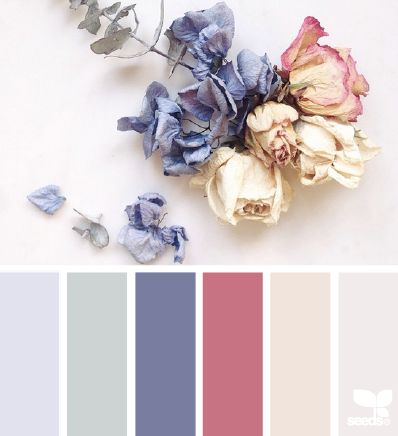 I like the colour shades of the flowers. I think I would use multiple shades of each colour. | dried hues