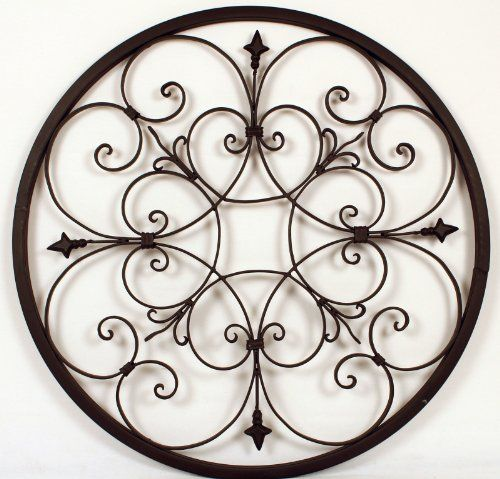 "Wrought Iron Fleur De Lis Wall Decor 28"" BetterHomeDecor http://www.amazon.com/dp/B00F07KUSK/ref=cm_sw_r_pi_dp_sxhtub1QX9NKQ"