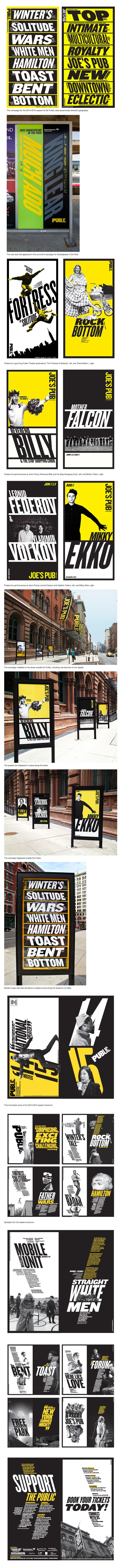 Paula Scher / Pentagram - The Public Theater