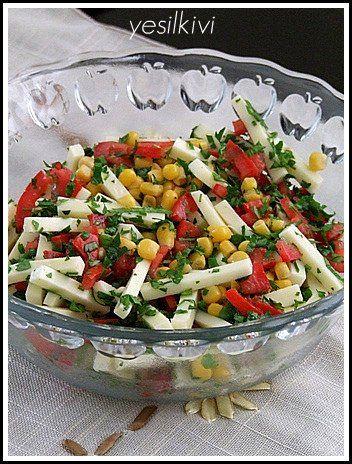 kaşarlı salata