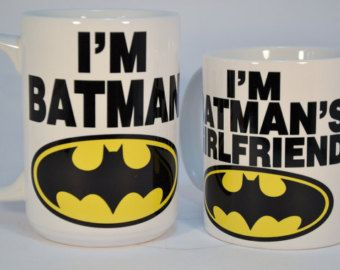 I'm batman and i'm batman's girlfriendfunny by TheMugLoft on Etsy