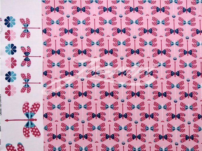 Elastický úplet vážky růžové (panel)