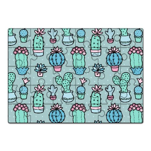 Pretty Cacti Jigsaw by zoel at zippi.co.uk